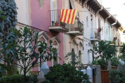 the spanish flag and Catalonia