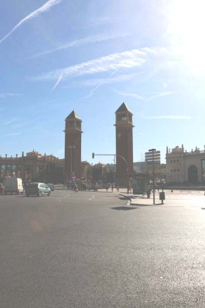 the two towers of barcelona