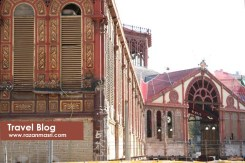 Red Market hall in Barcelona very circus like