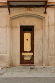 Brown antique door Streets of barcelona artsy
