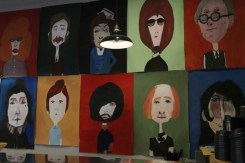 Drawings on the wall In barcelona you can find many hipster unusual artistic shops