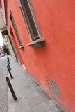 Red orange wall Streets of barcelona artsy