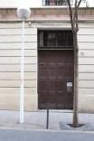 Old brown door Streets of barcelona artsy