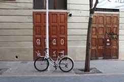 Bicycle and doors Streets of barcelona artsy