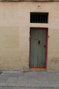 Colored door Streets of barcelona artsy