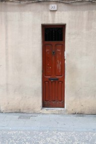 Brown door Streets of barcelona artsy