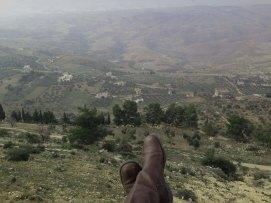 On the way to AL-Salt AsSalt AlSalt Jordan sitting on a cliff overlooking the city in Jordan