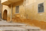 Al Salt, AsSalt, Al-Salt, AlSalt, Jordan, Nablus soap orange wall coloring of architecture of the 1900