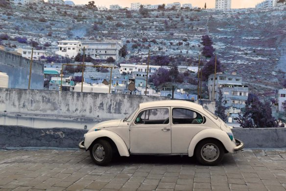 Al Salt, AsSalt, Al-Salt, AlSalt, Jordan,  A very old white Volkswagen car by the city, سيارة فوكس قديمه fox