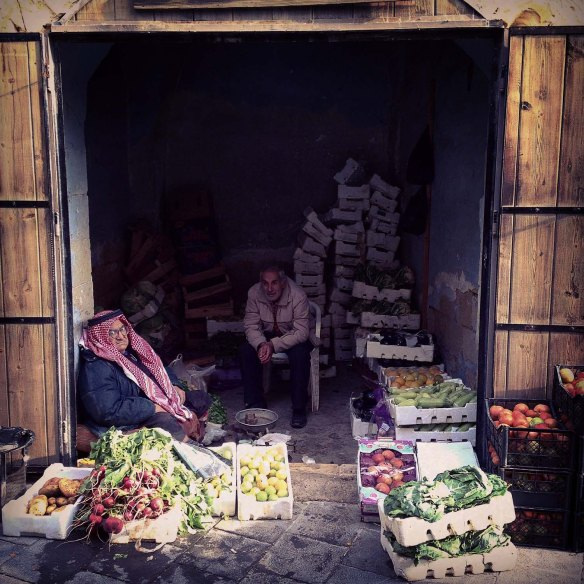 Al Salt, AsSalt, Al-Salt, AlSalt, Jordan، مدينة السلط الاردن, ancient city and architecture، an old man selling vegetables