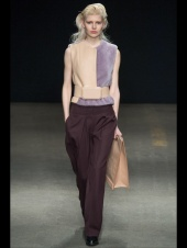 fur and brown purple fabric mix and art formed ready to wear outfits
