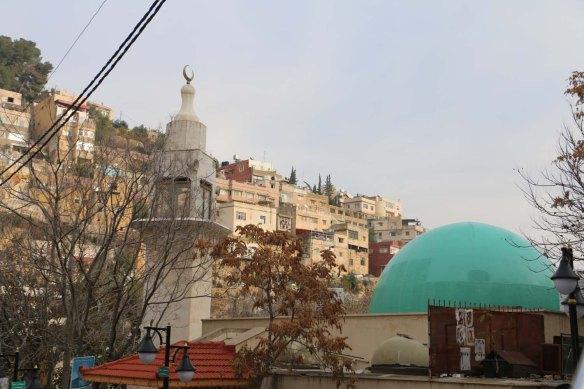 Al Salt, AsSalt, Al-Salt, AlSalt, Jordan، مدينة السلط الاردن, ancient city and architecture green dome and ancient mosque