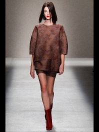 brown dress Earth colors ready to wear