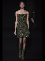 strapless green dress Earth colors ready to wear