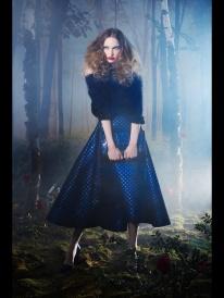 blue dress classic looks