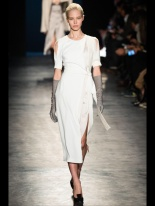 white dress fall winter ready to wear