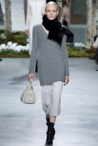 grey sweater and beige pants grey scale outfits