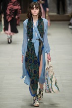 blue trench coatfall winter ready to wear