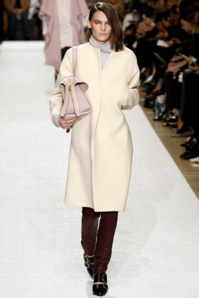 Beige simple straight cut Favorite coats for this fall winter 2014 2015 ready to wear collections
