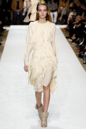 white pearl dress fall winter ready to wear