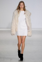 white dress pearl cpat fall winter ready to wear