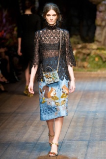 blue skirt with cartoon and lace black fabric mix and art formed ready to wear outfits
