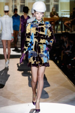 Colorful fur coat Favorite coats for this fall winter 2014 2015 ready to wear collections