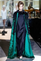 Ground length long teel green coat Favorite coats for this fall winter 2014 2015 ready to wear collections
