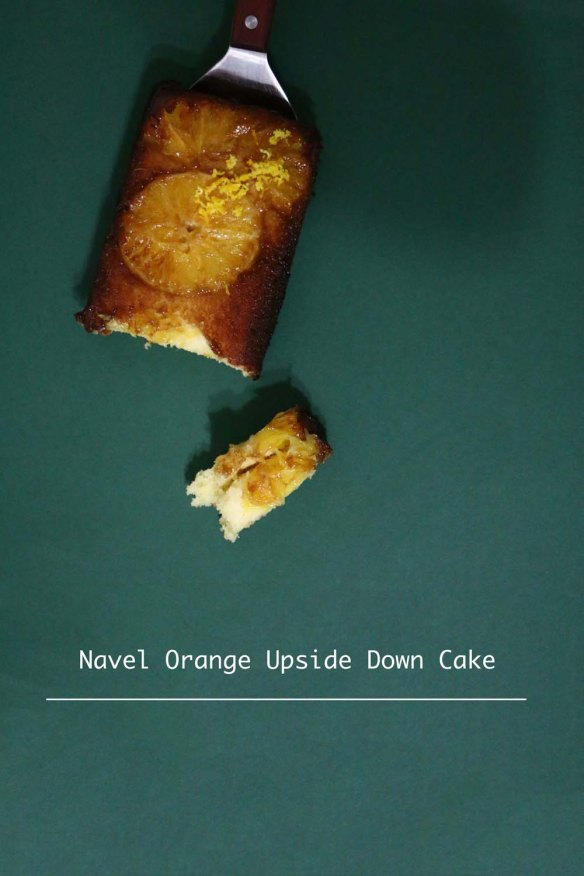 Recipe of the Navel Orange upside down cake