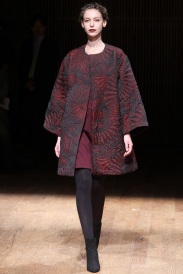 burgundy short coat with print Favorite coats for this fall winter 2014 2015 ready to wear collections