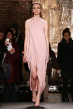 pink blush dress fall winter ready to wear
