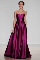 long pink satan dress Evening gowns and dresses