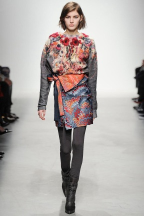 print coat fabric mix and art formed ready to wear outfits