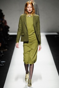 green Head to toe one Mono color winter ready to wear