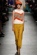 MUSTARD PANTS fabric mix and art formed ready to wear outfits