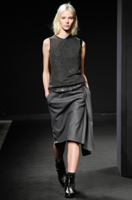sleeveless top and skirt grey scale outfits
