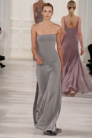 strapless grey dress