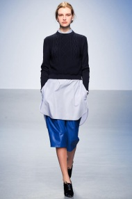 blue skirt Cocoon Layering outfits
