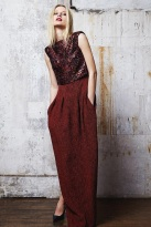burgundy skirt fabric mix and art formed ready to wear outfits