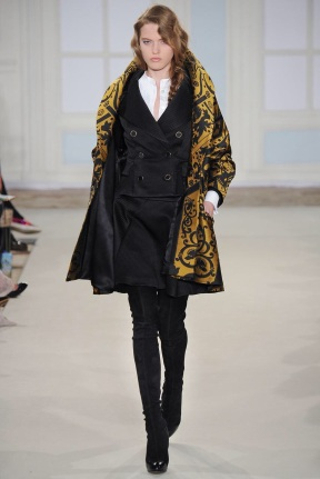 short mustard pattern coat Favorite coats for this fall winter 2014 2015 ready to wear collections
