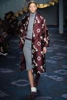 burgundy print knee length coat Favorite coats for this fall winter 2014 2015 ready to wear collections