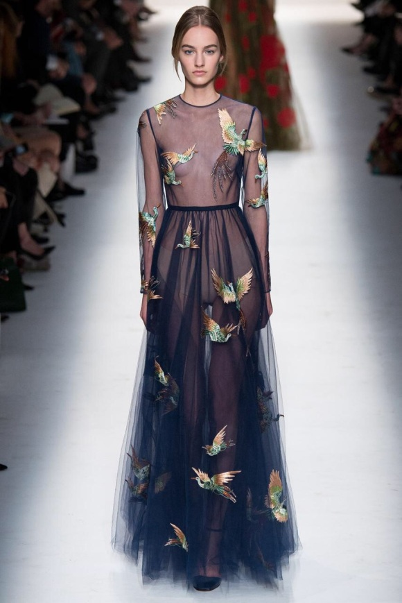 birds prints dress Evening gowns and dresses