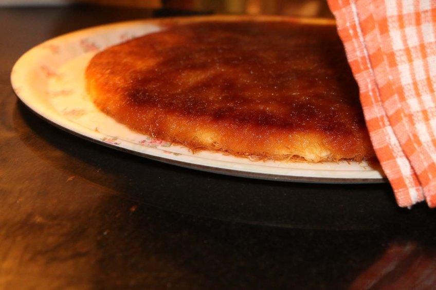 Knafeh a Palestinian dessert originally from Nablus
