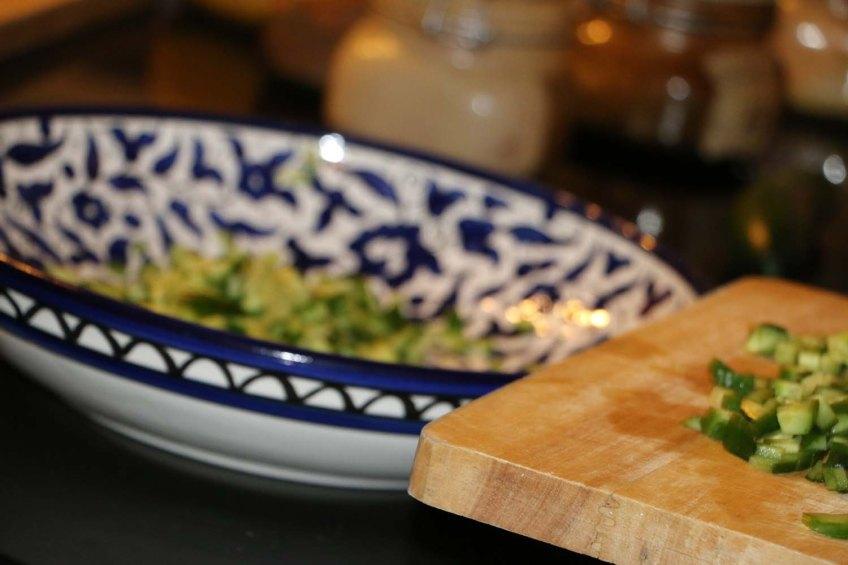 Cucumber and yogurt salad