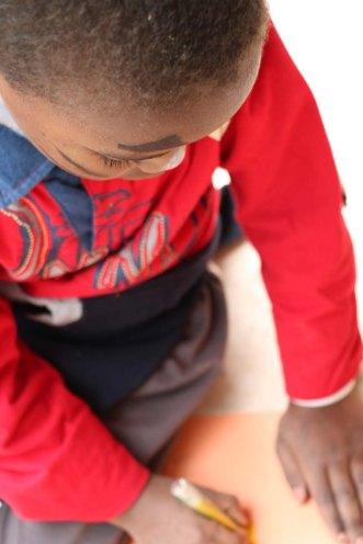 Gaza-Refugee-Camp-UN-School-Group-Photo-Small-Boy-2
