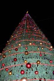 Christmas Tree and holiday in Amman Jordan beautiful in Fuheis near by amman in jordan