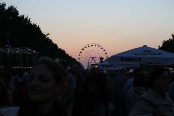 Sunset time during a festival at the Berlin Brandenburger to Victory Column
