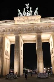 Close up of Brandenburger in Mitte Berlin