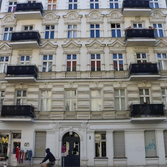 Beige old architecture in Neukolln Berlin