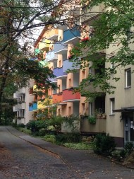Colored boxes and building in Berlin